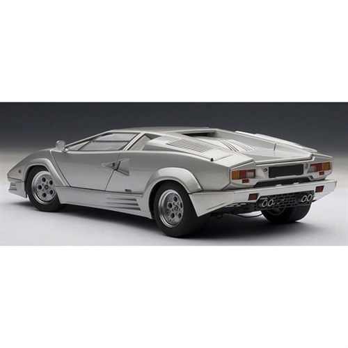 lamborghini countach 25th anniversary edition silver 1 18. Black Bedroom Furniture Sets. Home Design Ideas