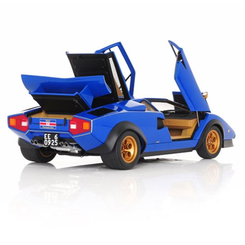 lamborghini countach lp500s walter wolf edition 1976 blue 1 18. Black Bedroom Furniture Sets. Home Design Ideas