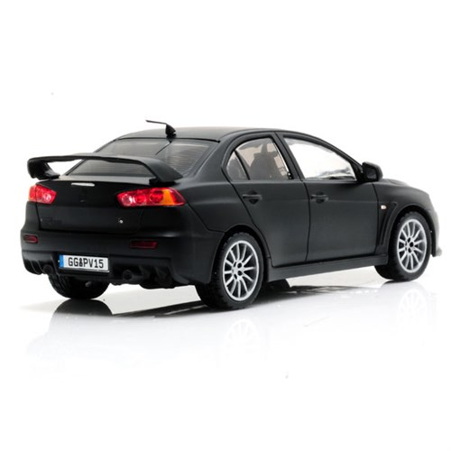 mitsubishi lancer evo x 2007 black 1 43. Black Bedroom Furniture Sets. Home Design Ideas