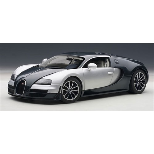 bugatti veyron super sport 2010 blue white 1 18. Black Bedroom Furniture Sets. Home Design Ideas