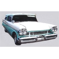 Mercury Voyager Station Wagon 4-Door 1957 - Light Blue/White 1:43