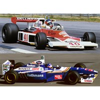 McLaren M23 1977 & Williams FW19 1997 - G. Villeneuve & J. Villeneuve - Two Car Set 1:43