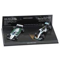 Williams FW08 1982 & Mercedes F1 W07 2016 - K. Rosberg & N. Rosberg - Two Car Set 1:43