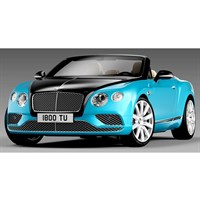 Bentley Continental GT Convertible RHD 2016 - Black and Blue 1:18