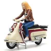 Heinkel Roller With Female Rider Figure - 1:10