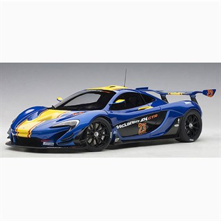 AUTOart McLaren P1 GTR 2015 Metallic BlueYellow Stripes