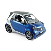 Smart Fortwo Cabriolet 2015 - Blue/Silver 1:18