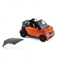 Smart Fortwo Cabriolet 2015 - Orange/Black 1:43