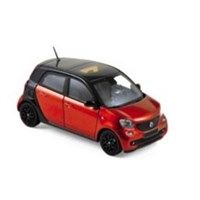 Smart Fortwo 2015 - Black/Red 1:43