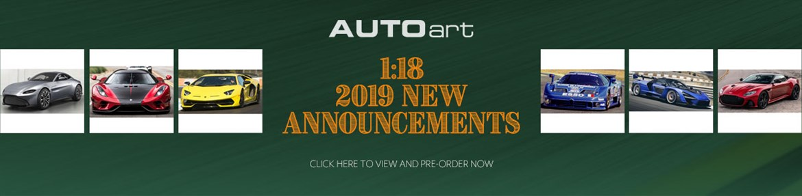 1:18 AUTOart 2019 New Announcements
