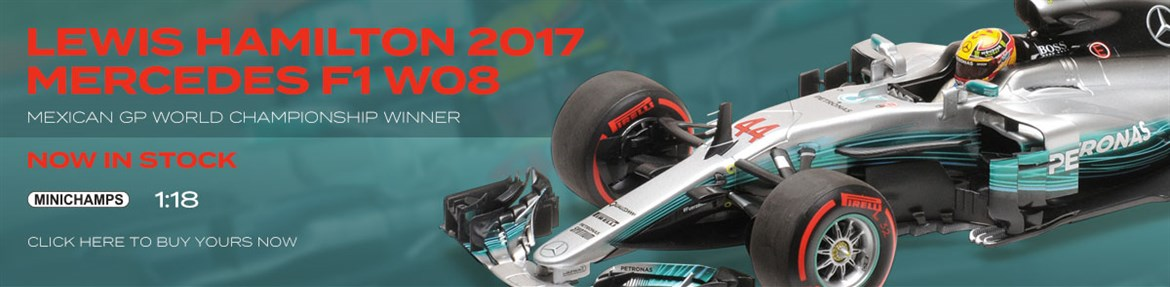 1:18 Lewis Hamilton 2017 Mercedes F1 W08 Mexico from Minichamps