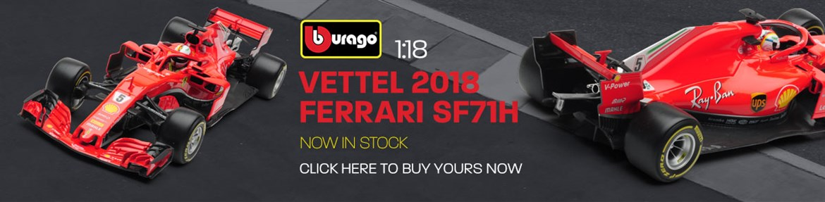 1:18 Vettel 2018 Ferrari SF71H model from Burago