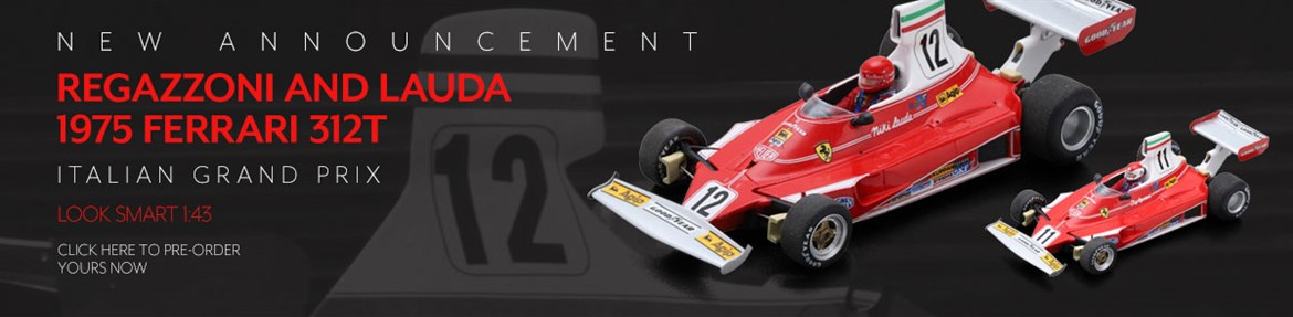 1:43 Regazzoni and Lauda 1975 Ferrari 312T models from Look Smart