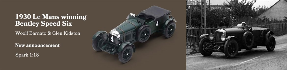 1930 Le Mans winning Bentley Speed Six diecast model car