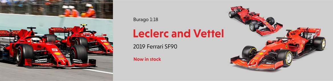 Burago 1:18 Leclerc and Vettel 2019 Ferrari SF90 Diecast model car review