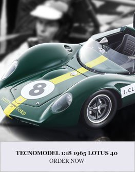 1:18 1965 Lotus 40 model from Tecnomodel