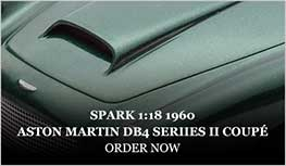 1:18 1960 Aston Martin DB4 Series II Coupé model from Spark