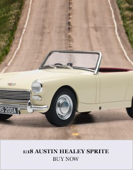 1:18 1961 Austin Healey Sprite model from Cult