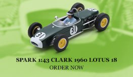 Spark 1:43 Jim Clark 1960 Lotus 18 Diecast Model Car Review
