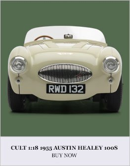 Cult 1:18 1955 Austin Healey 100S diecast model car review
