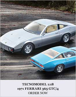 1:18 1971 Ferrari 365 GTC/4 model from Tecnomodel