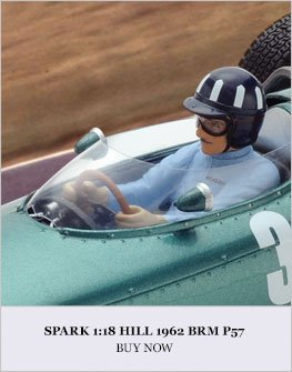 1:18 Hill 1962 BRM P57 model from Spark