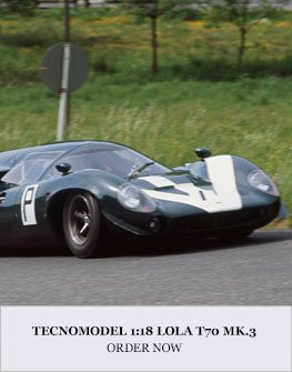 1:18 Lola T70 Mk.3 model from Tecnomodel