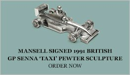 1:18 Mansell 1991 British GP Senna taxi pewter sculpture Diecast Model Car Review