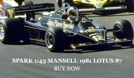 Spark 1:43 Nigel Mansell 1981 Lotus 87 Diecast Model Car Review
