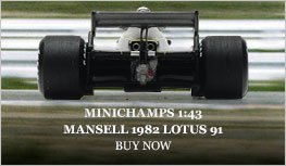 Mansell 1982 Lotus 91 model from Minichamps