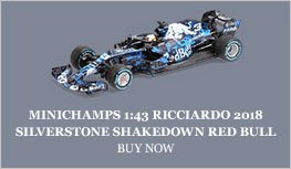 Minichamps 1:43 Ricciardo 2018 Red Bull RB14 Silverstone Shakedown Diecast Model Car Review