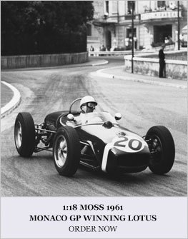 Moss 1961 Lotus 18 Monaco model from SMTS