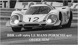 1:18 #12 1969 Porsche 917. Le Mans model from BBR