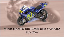 Rossi 2017 Yamaha YZR M1 model from Minichamps