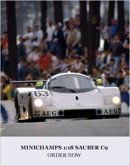 Minichamps 1:18 Sauber C9 Diecast Model Car Review