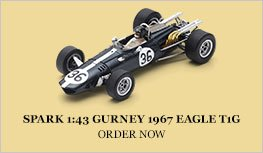 Spark 1:43 Gurney 1967 Eagle T1G Diecast Model Car Review
