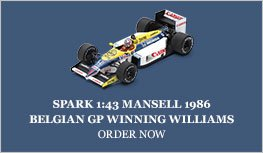 Spark 1:43 Mansell 1986 Williams Belgium Diecast Model Car Review