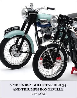 VMB 1:6 BSA Gold star and Triumph Bonneville Diecast Model Bike Review