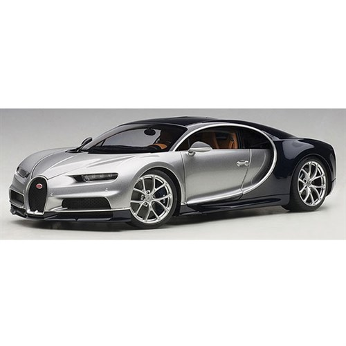 bugatti chiron 2017 argent silver atlantic blue 1 18. Black Bedroom Furniture Sets. Home Design Ideas