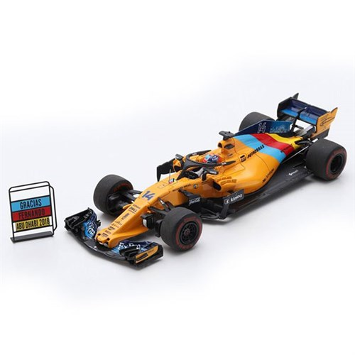 spark mclaren mcl33 w. tyre marks - 2018 abu dhabi grand prix