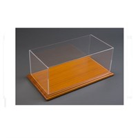 Atlantic Mahogany Wood Base Base Display Case 1:18