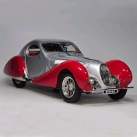 CMC Talbot-Lago Coupe T150 C-SS Figoni & Falaschi Teardrop 1937-39 - Silver/Red 1:18