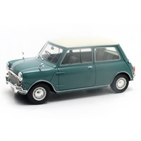 Austin Mini Cooper Mk.1 1961-63 - Blue/White 1:18