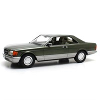 Cult Mercedes 380 SEC C126 1982 - Green Metallic 1:18