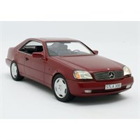 Cult Mercedes 600 SEC C140 1992 - Metallic Red 1:18