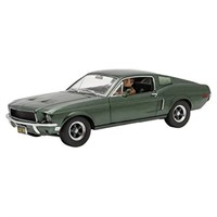Greenlight Collectibles Ford Mustang GT Fastback 1968 W. Figure - Bullitt 1968 - Highland Green 1:18