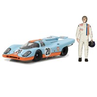 Greenlight Collectibles Porsche 917K W. Figure - Le Mans Movie - #20 S. McQueen 1:43