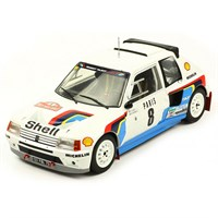 IXO Peugeot 205 T16 - 1985 Monte Carlo Rally - #8 B. Saby 1:18