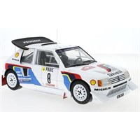 IXO Peugeot 205 T16 - 1986 Monte Carlo Rally - #8 B. Saby 1:18