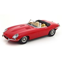 KK Jaguar E-Type Cabriolet Series 1 1961 Roof Down - Red 1:18